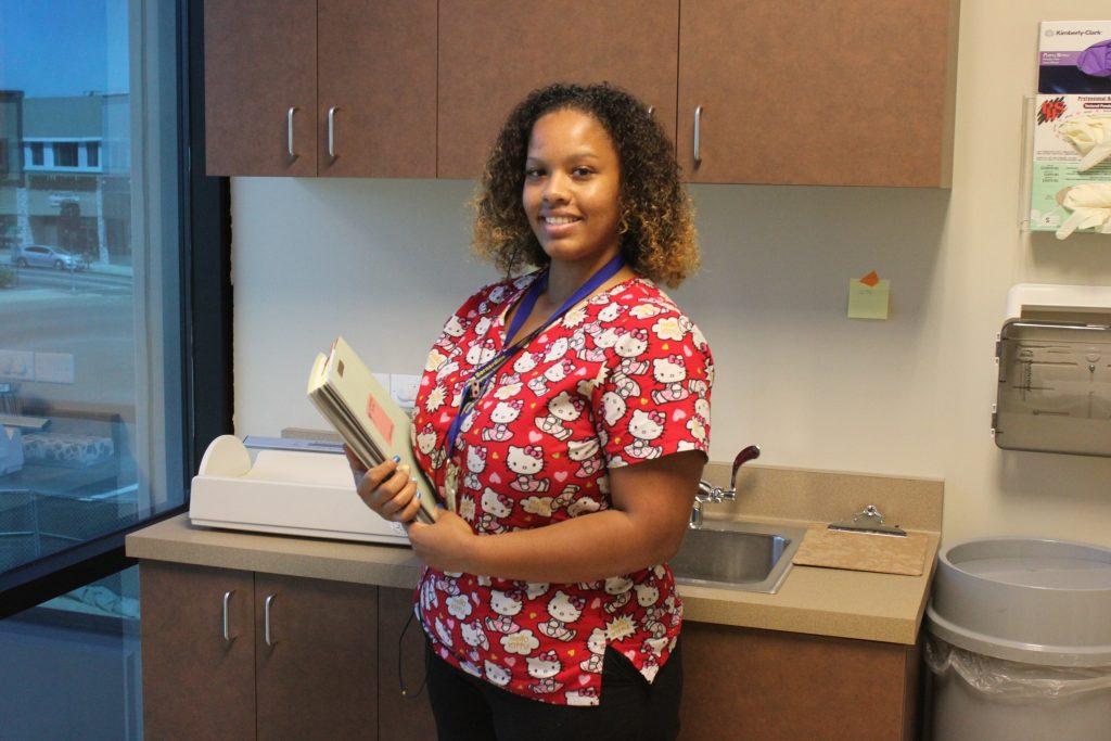 Nurse in working environment